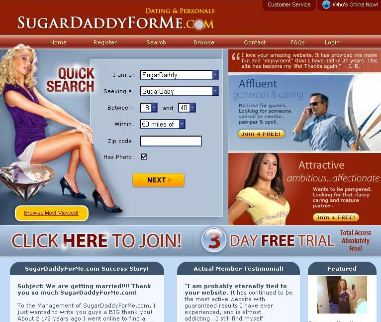 Sugar daddy hookup sites